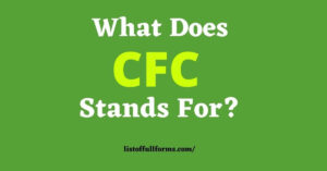 CFC Full Form
