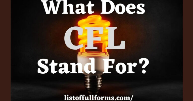 CFL Full Form