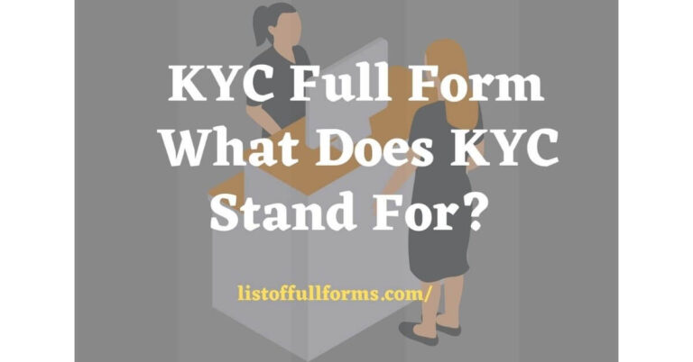 KYC Full Form