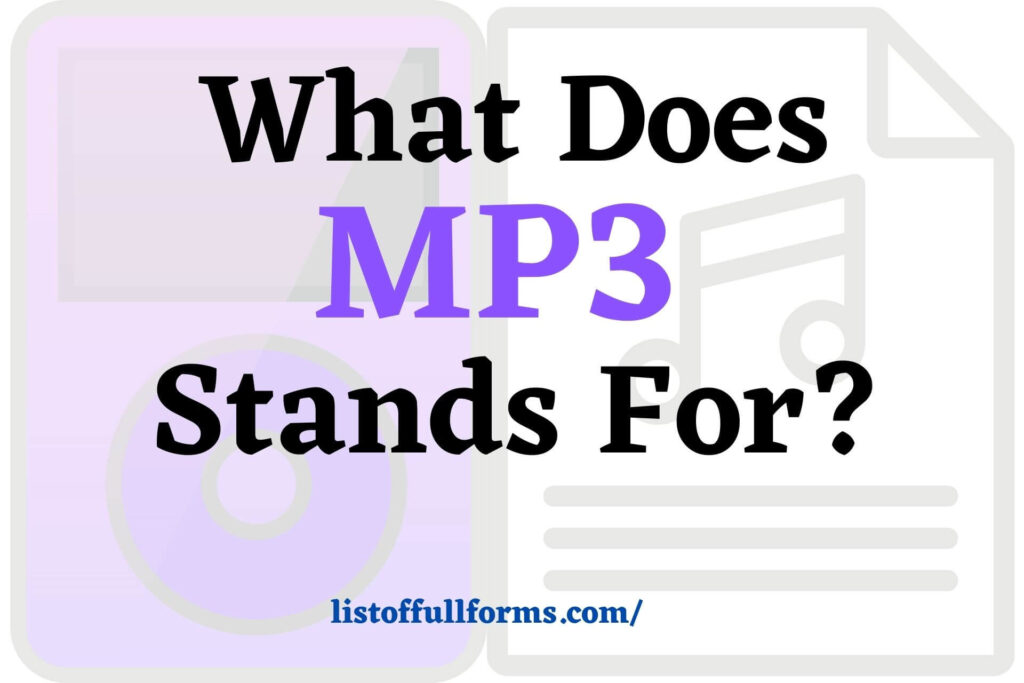 MP3 Full Form