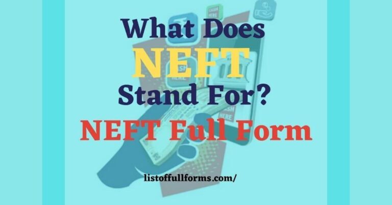 NEFT Full Form