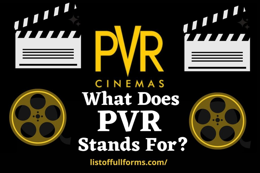 PVR Full Form