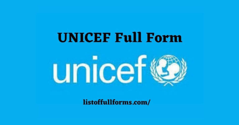 UNICEF Full Form